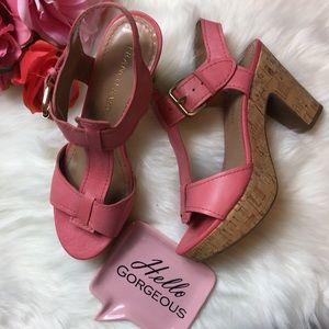 🎉 Franco Sarto Platform cork heels